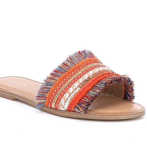 db1fceb2372 Aldo Shoes - Aldo Castlerock Fringe Slide Sandals